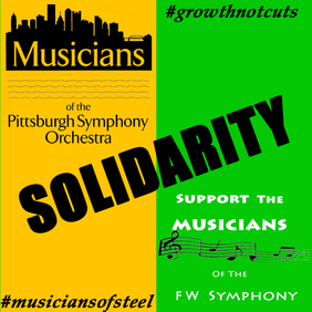 Pittsburg Symphony Fort Worth Symphony Musicians Solidarity